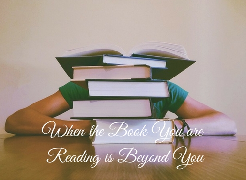 When the Book You are Reading is Beyond You