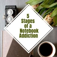 5 Stages of a Notebook Addiction #Writer #WritersLife