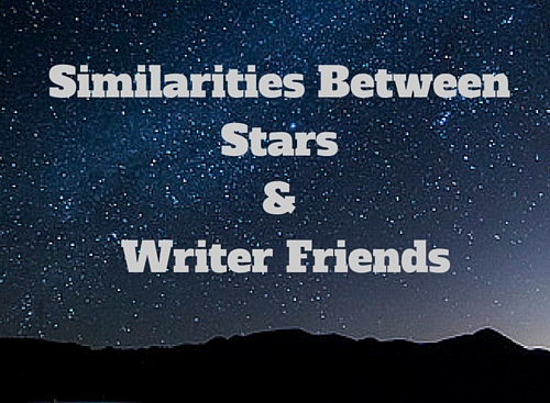 Similarities Between Stars & Writer and Blogging Friends