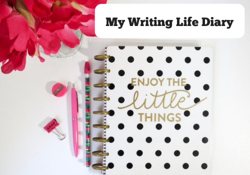 My Writing Life Diary Writer AmWriting BlondeWriteMore
