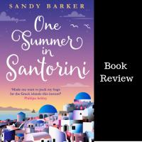 #BookReview One Summer in Santorini #TuesdayBookBlog #BookTour @sandybarker