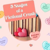 #Amreading The 5 Stages of a Fictional Crush #Writerslife