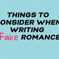 Things To Consider When Writing The Fake Romance Trope #AmWritingRomance